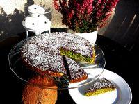 Kokosowe ciasto Rafaello ze szpinaku i ciecierzycy