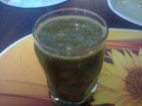 Zielony shake do picia