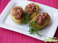 Ziemniaki nadziewane farszem z kiełbasy