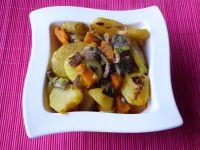 Ziemniaki podsmażane z dynią i boczniakami