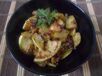 Ziemniaki podsmażane z kabaczkiem i pieczarkami