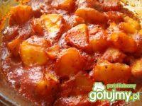 Ziemniaki z sosem pomidorowymi i chili