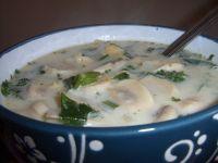 Ziołowa zupa pieczarkowa