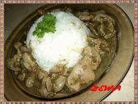 Żołądki drobiowe z ryżem