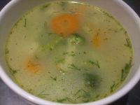 Zupa brokułowo - kalafiorowa