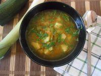 Zupa cukiniowo-groszkowa