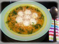 Zupa dyniowa z jaglanymi kluseczkami