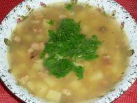 Zupa grochowa z boczkiem i natką