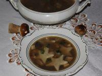 Zupa grzybowa z gwiazdkami
