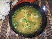 Zupa kalafiorowo-groszkowa
