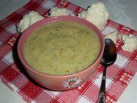 Zupa-krem brokułowo-kalafiorowa z kaszą manną