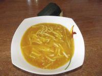 Zupa krem cukiniowo marchewkowa z makaronem