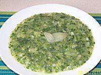 Zupa krem szpinakowo - ziemniaczana