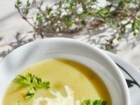 Zupa- krem z zielonego groszku