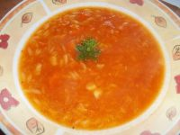 Zupa pomidorowa z makaronem ryżowym