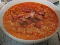 Zupa z soczewicy z bekonem