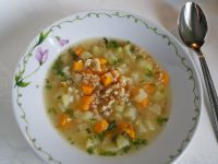 Zupa zdrowia z pszenicą, jaglanką i soczewicą