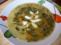 Zupa ze świeżego szczawiu