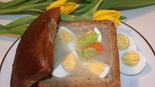 Żurek w chlebie. Fot. E.Żołek