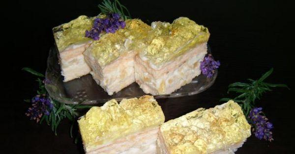 Ananasek - Gotowe kawałki ciasta ananaska z galaretką