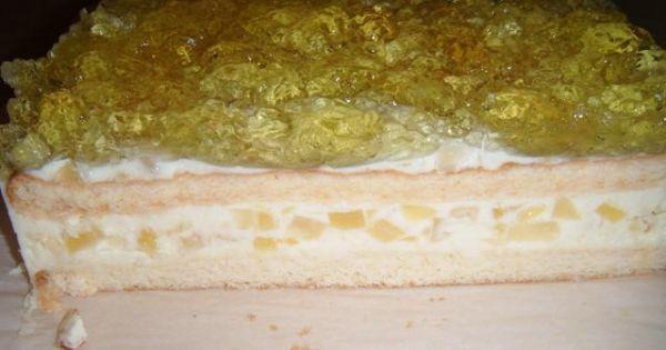 Ananasek - Na wierzch ciasta wylewamy galaretkę cytrynową