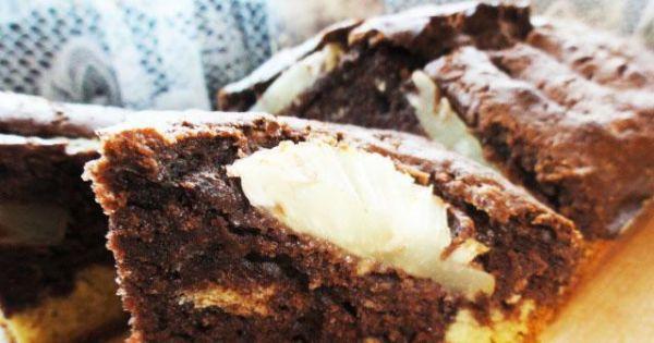 Ananasowo- kakaowe ciasto - Ananasowo- kakaowe ciasto, ciasto z ananasem, ciasto na jesień