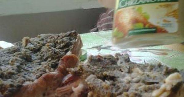 Boczek pieczony wg Izy - Tak wygląda wyśmienity domowy boczek w marynacie z czosnku i majeranku.