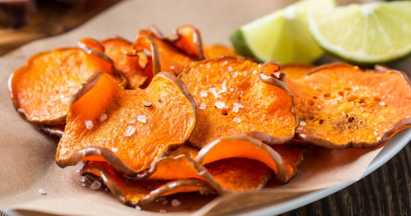 Chipsy dietetyczne z dyni