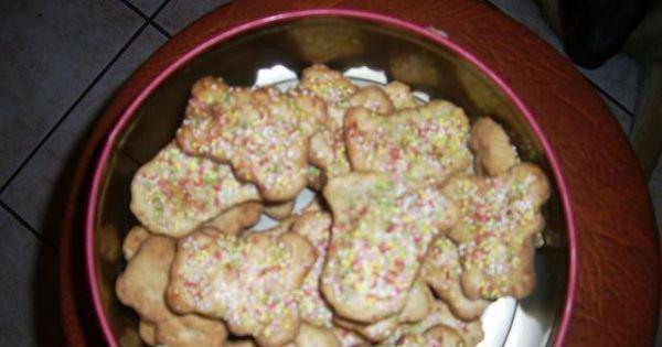Ciasteczka orzechowe loli - Efekt końcowy - pysszne ciasteczka na święta są już gotowe.