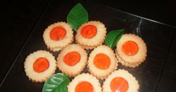 Ciasteczka z galaretką - Gotowe przygotowane ciasteczka z galaretką