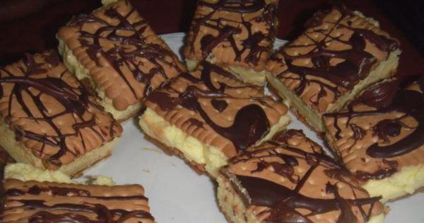Ciasto 3-bit   - Kilkuwartswowe ciasto 3-bit: herbatniki, kajmak, budyń, bita śmietana i czekolada.