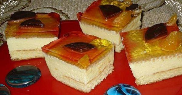 Ciasto cytrynowe z galaretką - Ciasto jest bardzo smaczne i godne polecenia