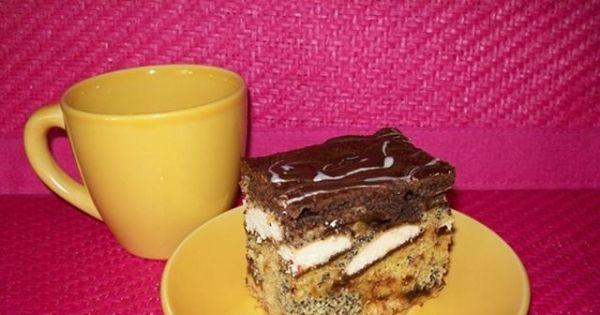 Ciasto Katarzynka - Pyszne ciasto przełożóne powidłami i biszkoptami.