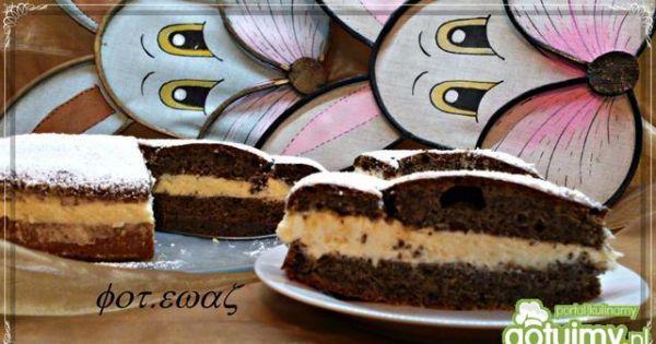 Ciasto makowe z kremem  - ciasto makwe z kremem to smaczne ciacho do kawki