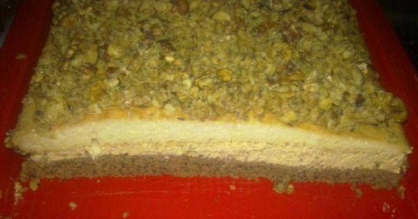 Ciasto orzechowe z masą krówkową - Ciasto krówkowo- orzechowe
