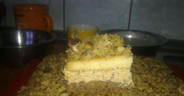 Ciasto orzechowe z masą krówkową - Oczywiście ciasto najlepsze jest jak postoi przez noc w lodówce