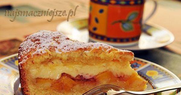 Ciasto z brzoskwiniami i budyniem - Ciasto z brzoskwiniami i budyniem