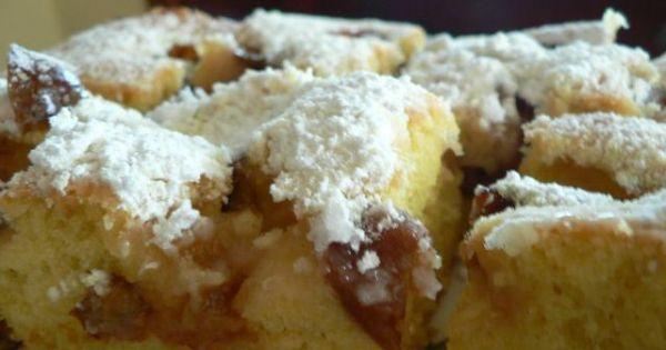 Ciasto ze śliwkami - Ciasto studzimy i wierzch posypujemy cukrem pudrem
