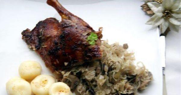 Faszerowana warzywami kaczka - pyszna chrupiąca złocista kaczka z warzywnym, nadzieniem