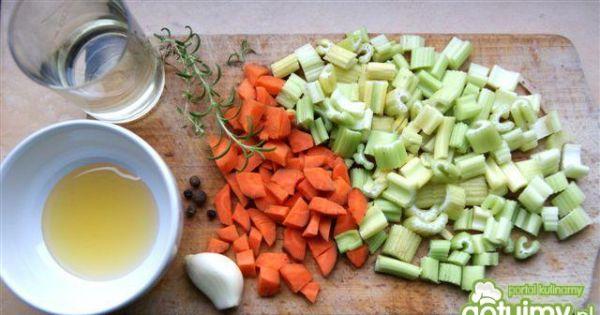 Faszerowana warzywami kaczka - Składniki potrzebne do zrobienia nadzienia do kaczki