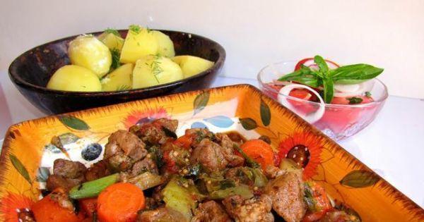 Gulasz cygański z ziemniakami - Gulasz cygański z ziemniakami i marchewką smaczny