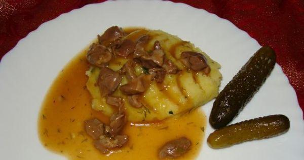 Gulasz z żołądków kurzych - Smaczny gulasz z żołądków bardzo lubiany w moim domku ;)