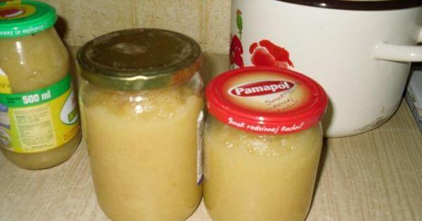 Jabłka prażone - Gotową mase jabłkową przekładamy do słoików gdy jest gorąca