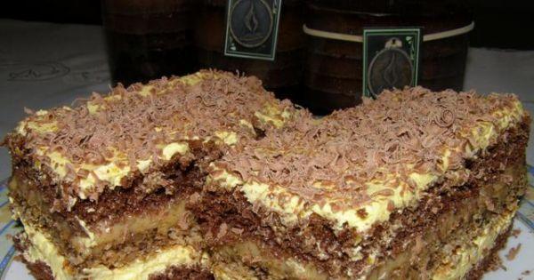 Kakaowo-orzechowe z masą krówkową  - Placek o smaku krówki , kakao i orzechów :)))