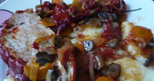Karkówka w pomidorowym sosie - Karkówka w pomidorowym sosie