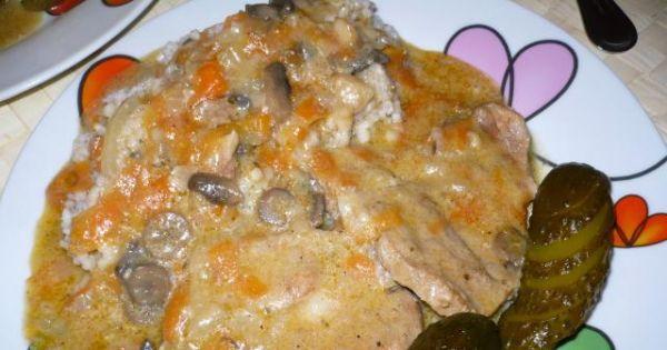 Karkówka w sosie pieczarkowym - Karkówka w sosie pieczarkowym