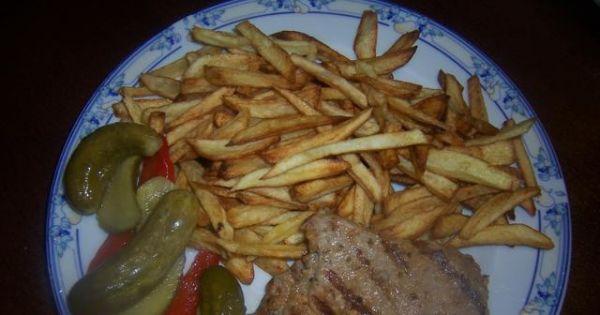 Karkówka z patelni grillowej - Swojski obiad dla pary dorosłych głodomorów :)