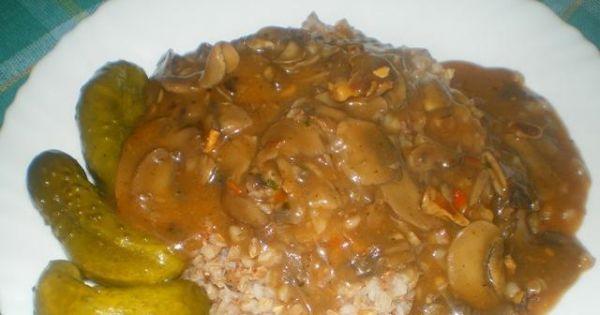 Kasza gryczana z sosem pieczarkowym 2 - Pyszna, zdrowa potrawa z kaszy i pieczarek