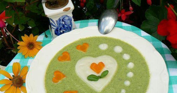 Krem brokułowo kalafiorowy od serca - Krem brokułowo kalafiorowy od serca z marchweką