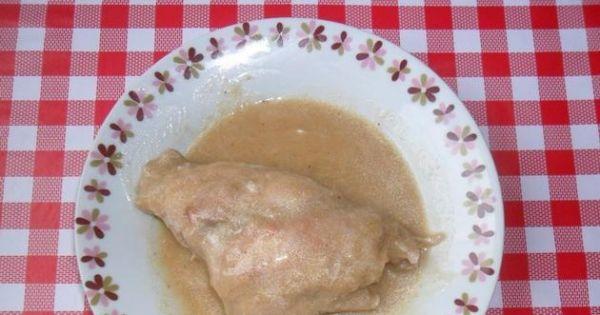 Królik w sosie - Podawać z pieczywem lub ziemniakami